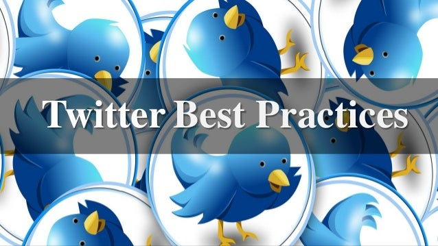 Best PracticesTwitter