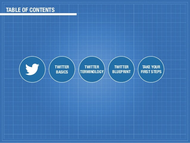Twitter blueprint for marketers digital 3 table of contents twitter malvernweather Image collections