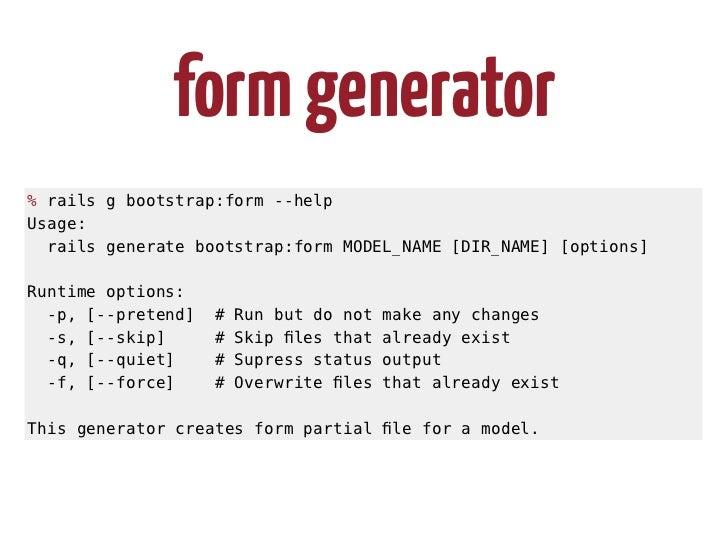 Form Generator Rails G Bootstrapform