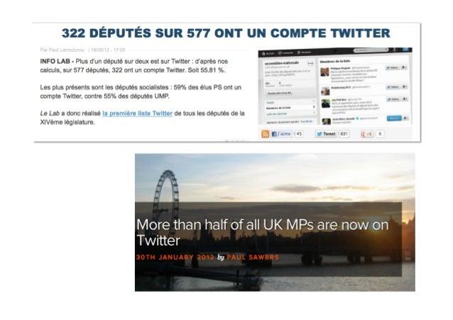 500 millions de comptes Twitterdans le monde dont plusde 200 millions actifs chaque moisPlus de 6 millions de Français ont...