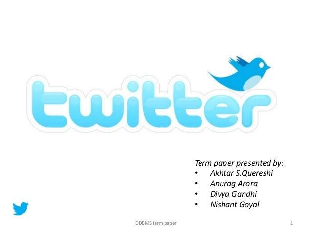Term paper presented by:• Akhtar S.Quereshi• Anurag Arora• Divya Gandhi• Nishant GoyalDDBMS term paper 1
