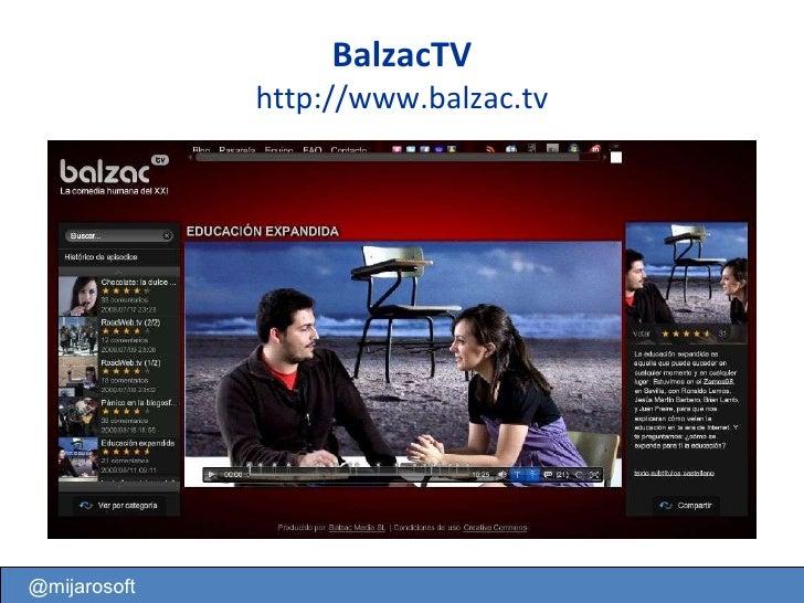 BalzacTV http://www.balzac.tv @mijarosoft