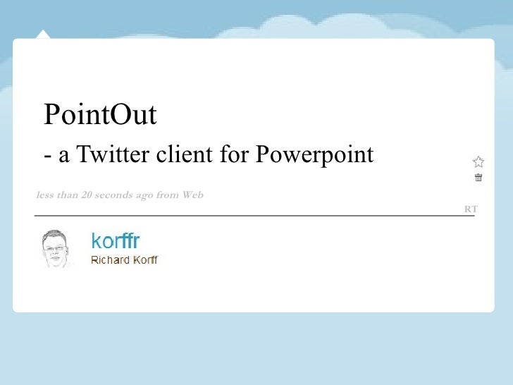 PointOut - a Twitter client for Powerpoint