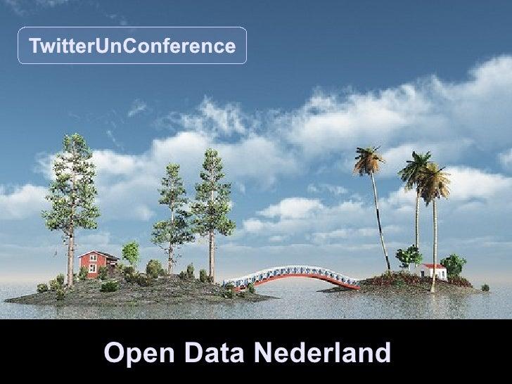 Open Data Nederland TwitterUnConference