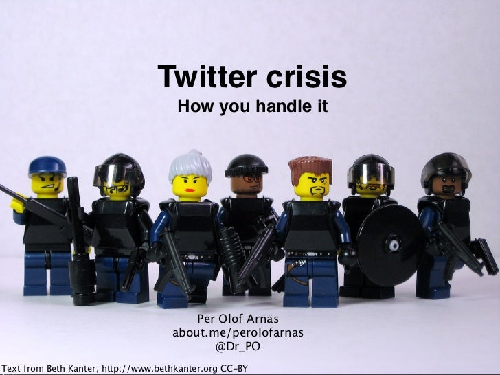 Twitter crisis                                         How you handle it                                            Per Ol...