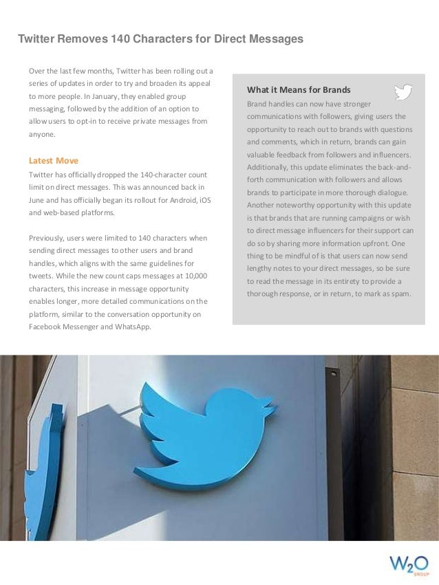 Twitter Removes 140 Characters for Direct Messages Over the last few months, Twitter has been rolling out a series of upda...