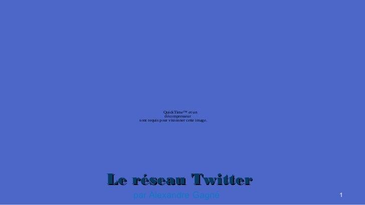 QuickTime™ et un                  décompresseur    sont requis pour visionner cette image.Le réseau Twitter   par Alexandr...