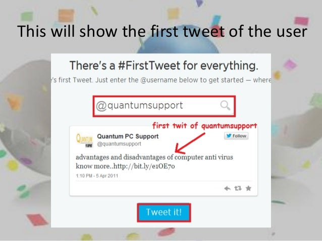 Twitter: Find First Tweet Of Any User