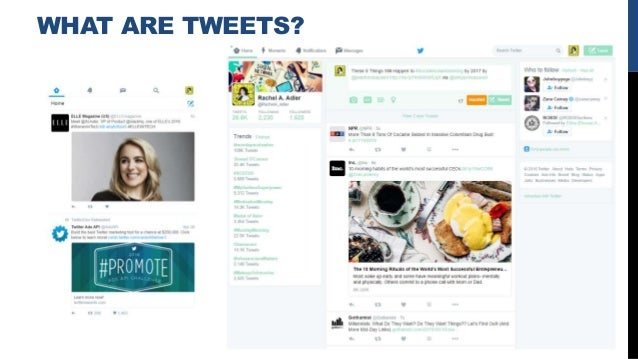 WHAT ARE TWEETS?