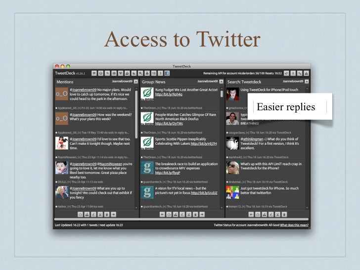 Access to Twitter                  Easier replies                   Shorten URLs