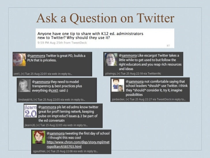 Ask a Question on Twitter