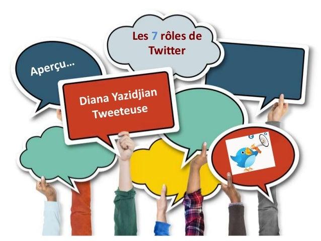Les 7 rôles de  Twitter