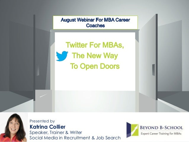 Presented by Katrina Collier Speaker, Trainer & Writer Social Media in Recruitment & Job Search