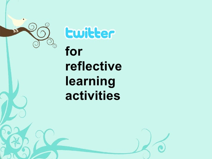 for reflective learning activities