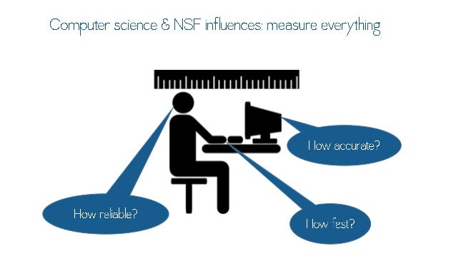 Computer science & NSF influences:  measure everything        How accurate?
