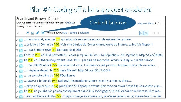 """Pillar #4: Coding off a list is a project  ACPP ' Search and Browse Dataset Code Off """"St  Lyon All Items No Duplicates Fre..."""