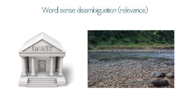 Word sense disambiguation (relevance)