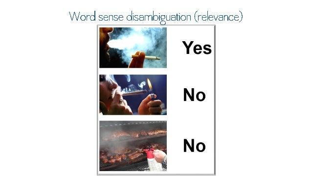 "Word sense disambiguation (relevance)      ' '"" >> /7'.  NO"
