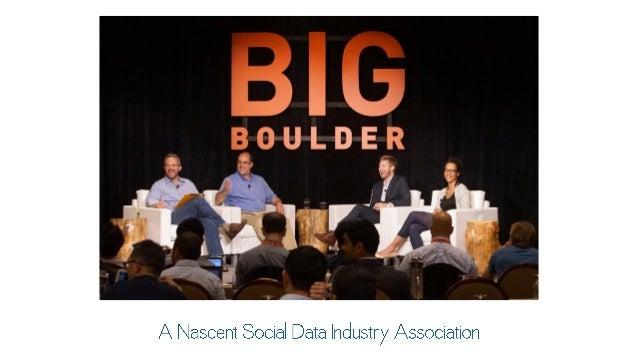 A Nascent Social Data Industry Association