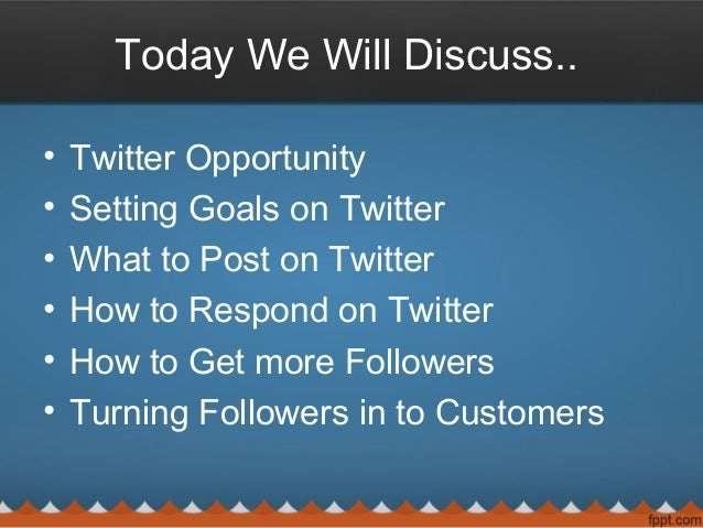 Twitter for startups - Turning Your Followers in to Customers Slide 2