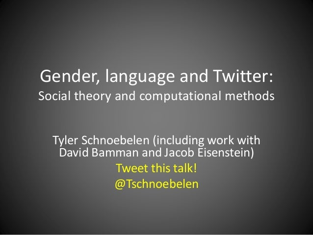 language and gender 1 Research on gender and language in the workplace has retained this focus, with a handful of studies branching out to examine talk among.