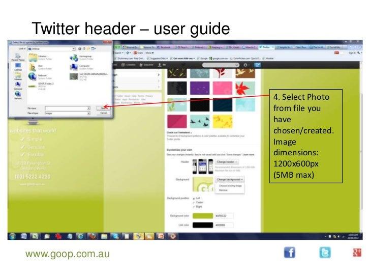 Twitter header – user guide