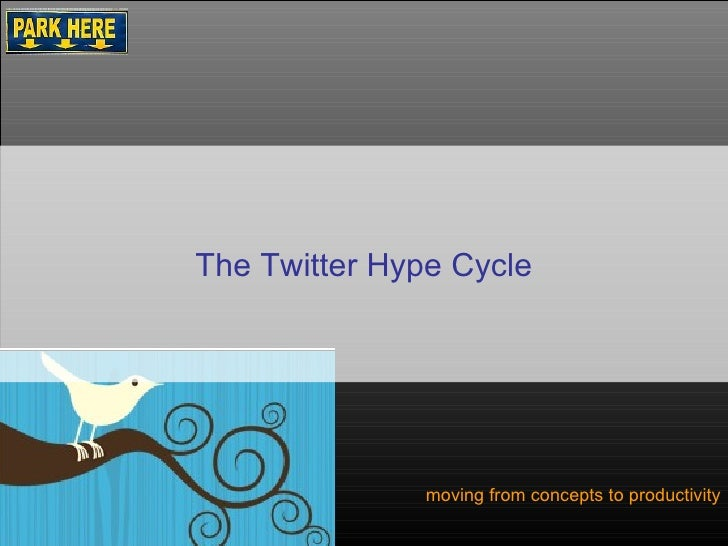 moving from concepts to productivity The Twitter Hype Cycle