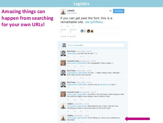Amazing things can happen from searching for your own URLs! Logistics