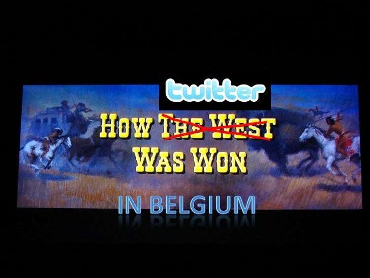 Twitter in belgium Slide 1