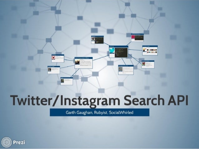 Twitter/instagram search api