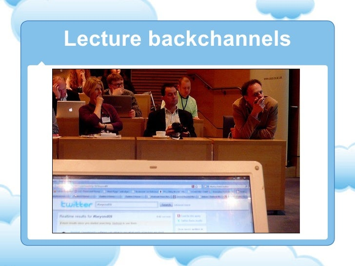 Lecture backchannels