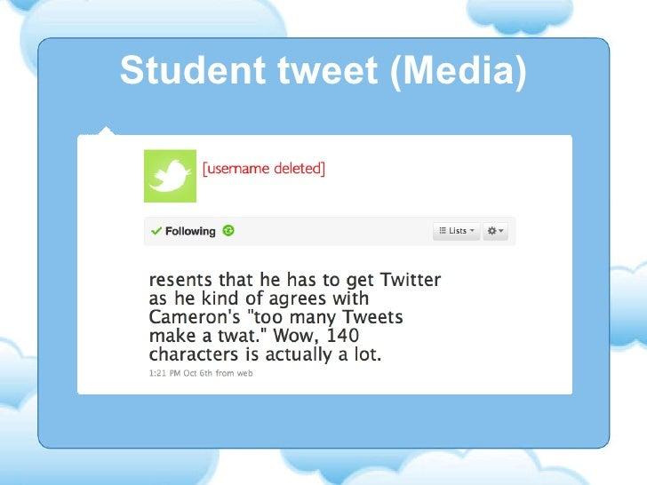 Student tweet (Media)