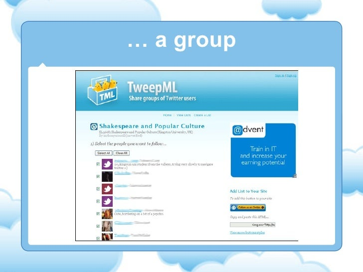 …  a group