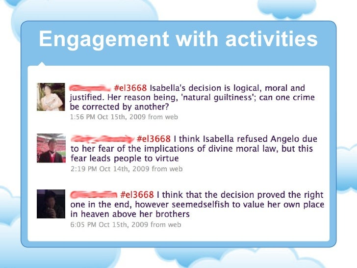 Engagement with activities