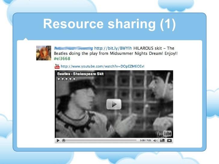 Resource sharing (1)