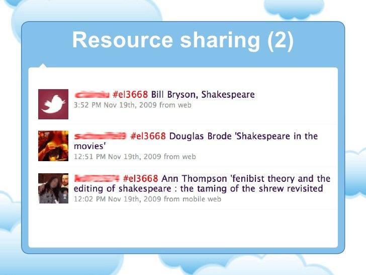 Resource sharing (2)