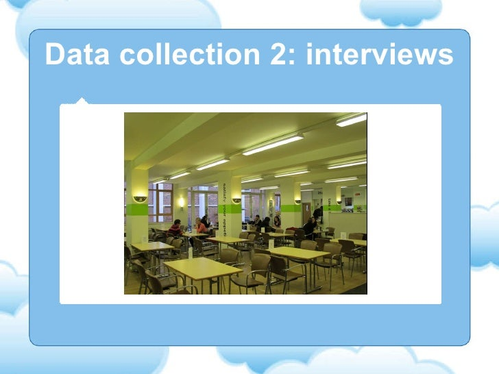 Data collection 2: interviews