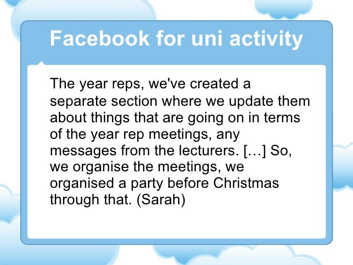 The year reps, we've created a separate section where we update them about things that are going on in terms of the year r...