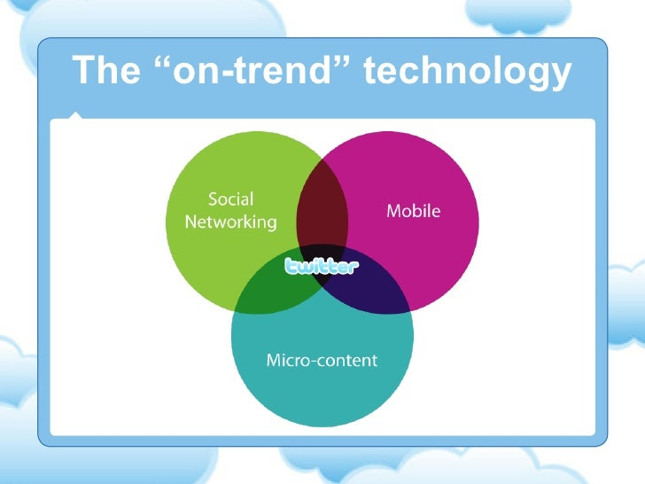 """The """"on-trend"""" technology"""