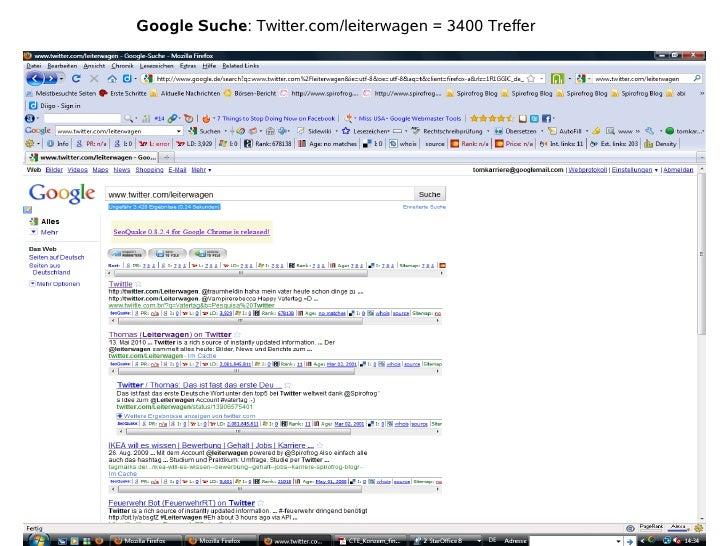 Google Suche: Twitter.com/leiterwagen = 3400 Treffer