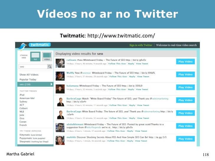 Banco de Dados de Aplicativos            para o Twitter                      http://twitdom.com/     Martha Gabriel       ...