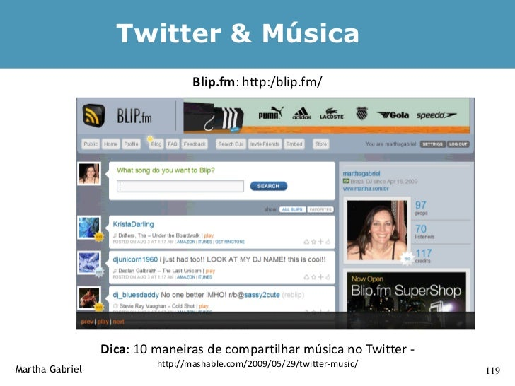 Gerador de #FollowFriday                  http://thetwittertagproject.com/followfriday.php     Martha Gabriel             ...