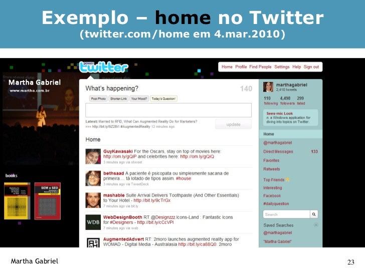 Comandos - Tweet    Tweet         É um post do Twitter. Você escreve o que quiser, o que está fazendo, um         link do ...