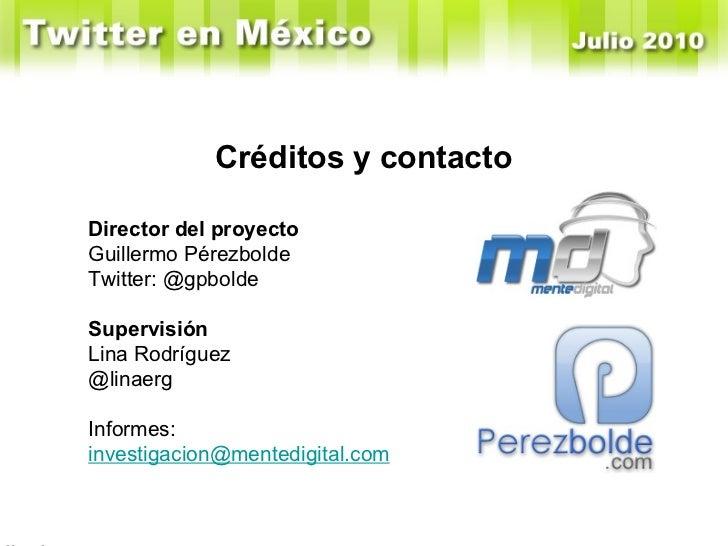 En Enero de 2010 Windows tenía el 52% y Mac el 36% Créditos y contacto Director del proyecto Guillermo Pérezbolde Twitter:...