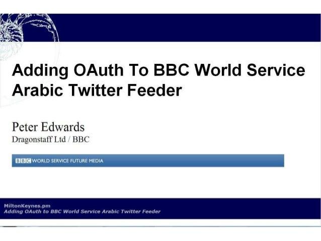 BBC World Service Twitter OAuth Perl
