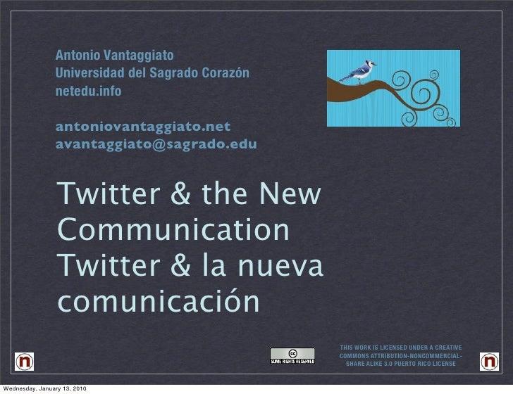 Antonio Vantaggiato                 Universidad del Sagrado Corazón                 netedu.info                  antoniova...