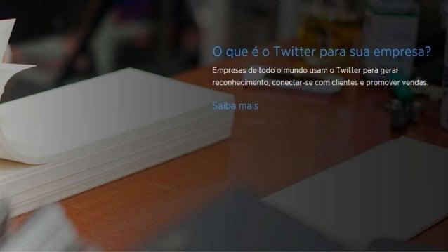 O que é o Twitter? O Twitter é uma rede de informações em tempo real na qual os usuários podem descobrir o que está aconte...