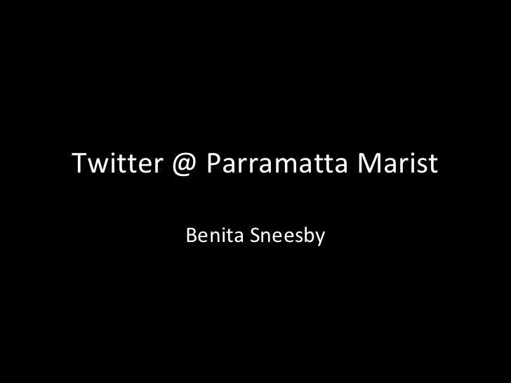 Twitter @ Parramatta Marist        Benita Sneesby