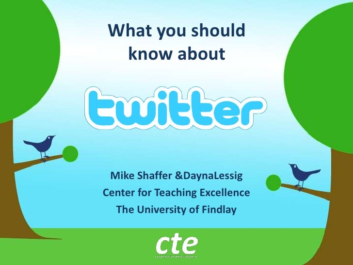 What you should know about<br />Mike Shaffer & DaynaLessig<br />Center for Teaching Excellence<br />The University of Find...