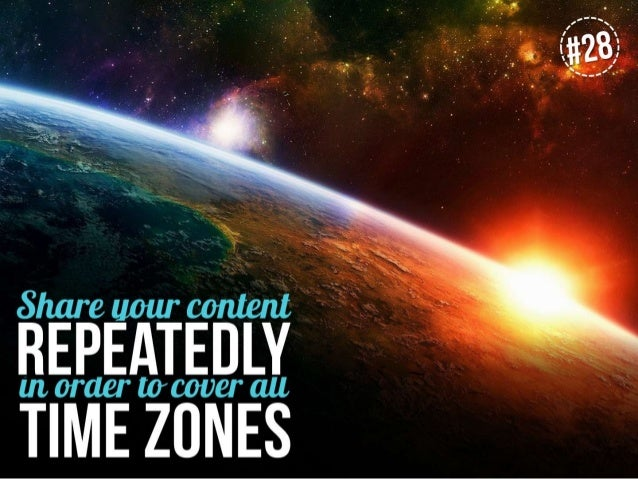 Share your content repeatedly in order to cover all time zones
